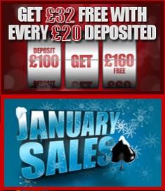 32red january sale bonuses