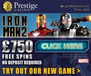iron man 2 slot prestige 750