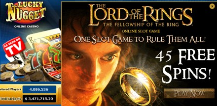 lord of the rings 45 free spins at lucky nugget